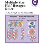 Multiple Size Half-Hexagon Ruler